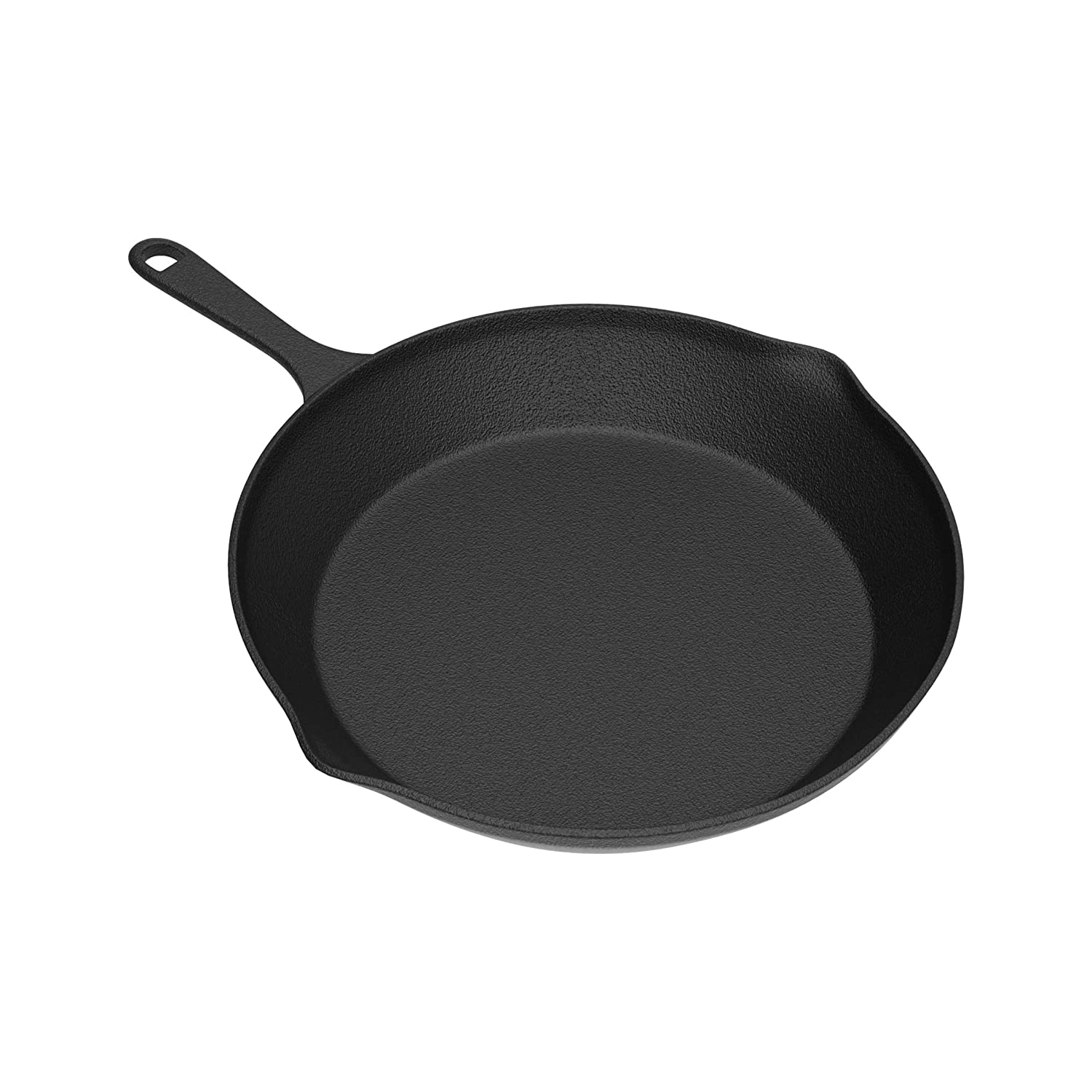 """Home-Complete HC-50036 Frying Pan-Cast Iron Pre-Seasoned Nonstick 6/"""" Skillet-Cook Eggs Meat Omelets Black Mini Pizza and More-Kitchen or Camping Cookware 6"""