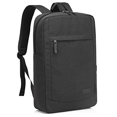 17 inch Laptop Backpack for Men with USB Charging Port Lightweight Slim Business Computer Rucksack with Waterproof Rain Cover