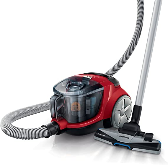 Philips fc932309 PowerPro Compact BAE Staubsauger ohne Beutel rot Hot 750 W