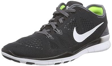 san francisco 8d58d 32702 Nike Free 5.0 TR Fit 5 Womens Cross Training Shoes (5, BLACK/DARK  GREY/WHITE/WHITE)