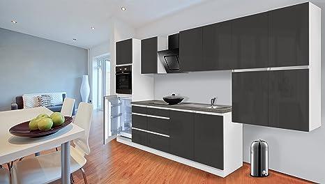 respekta Premium grifflose Cocina - Bloque de Cocina (370 cm ...