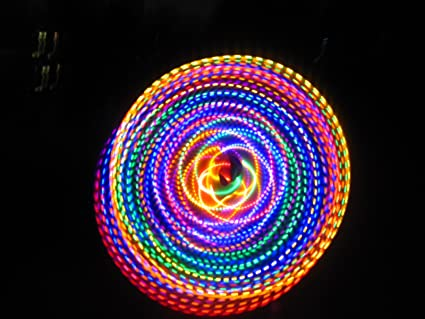 36-24 Color Changing LED Hula Hoop Cotton Candy Rainbow