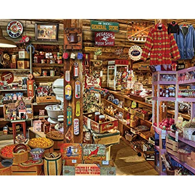 White Mountain Puzzles 1393 Country Store Seek & Find, 1000 Piece: Toys & Games