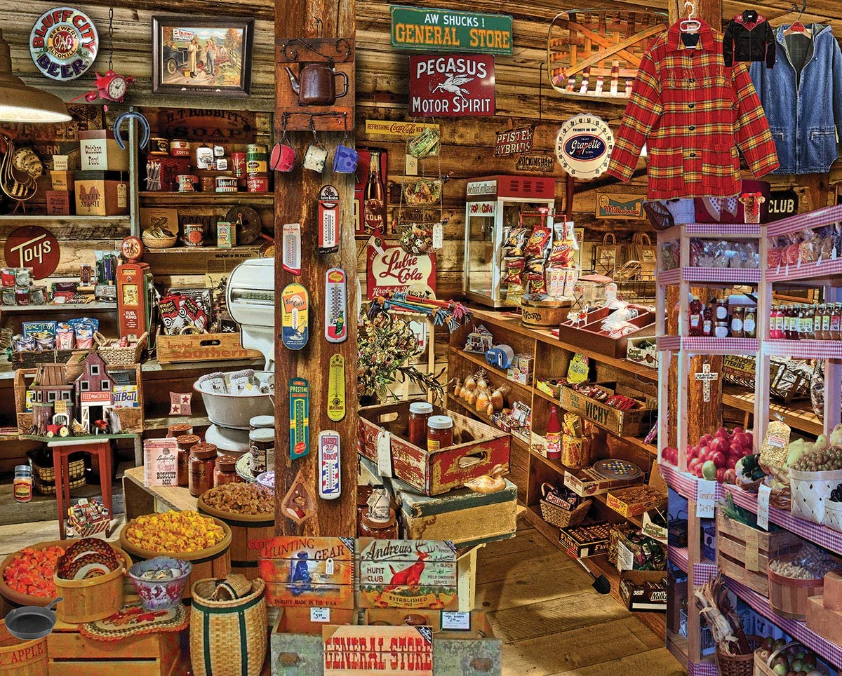 White Mountain Puzzles 1393 Country Store Seek & Find, 1000 Piece