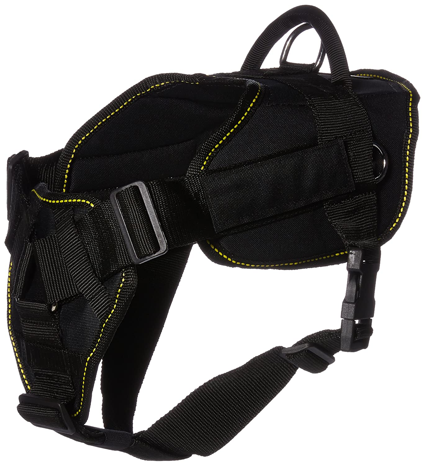 Dean & Tyler's DT Fun Chest Support Harness, Medium, with 6 ft Padded Puppy Leash.