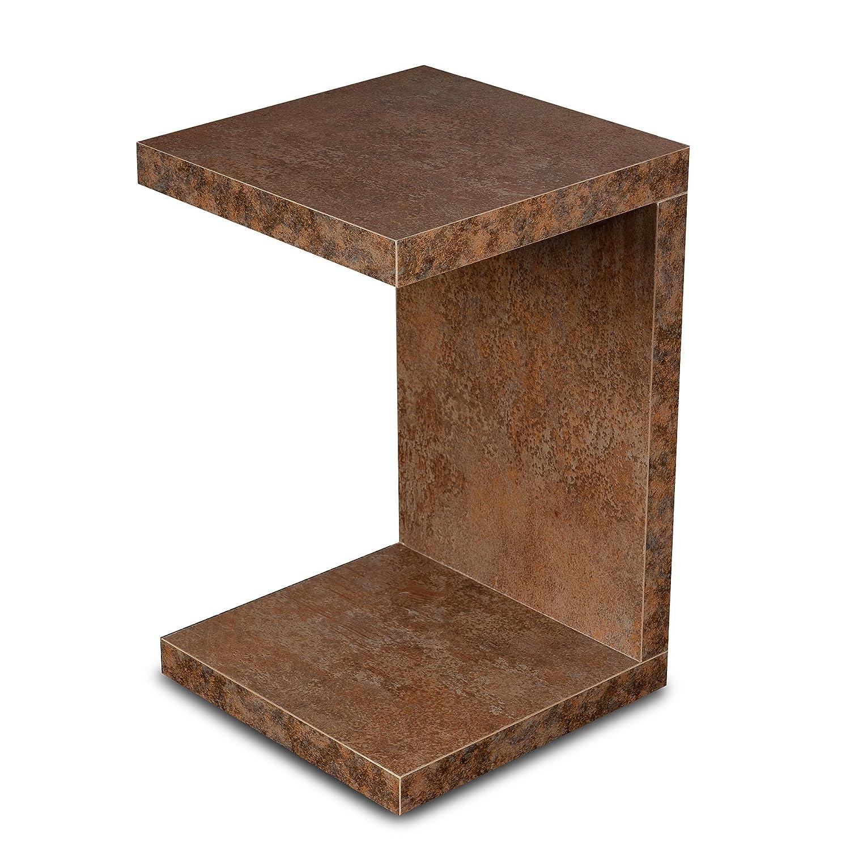 levandeo Couchtisch Coco Holz 32x32x50cm Rost-Optik Tisch Beistelltisch Deko Sofatisch Ablage Keine Montage Fest Verleimt
