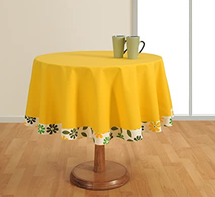 Round Tablecloth - 40 inches in Diameter - Tablecloths for Tables - Duck Cotton - Machine Washable Table Cloths at amazon