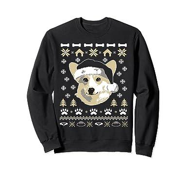 unisex corgi dog ugly christmas sweater xmas 2xl black