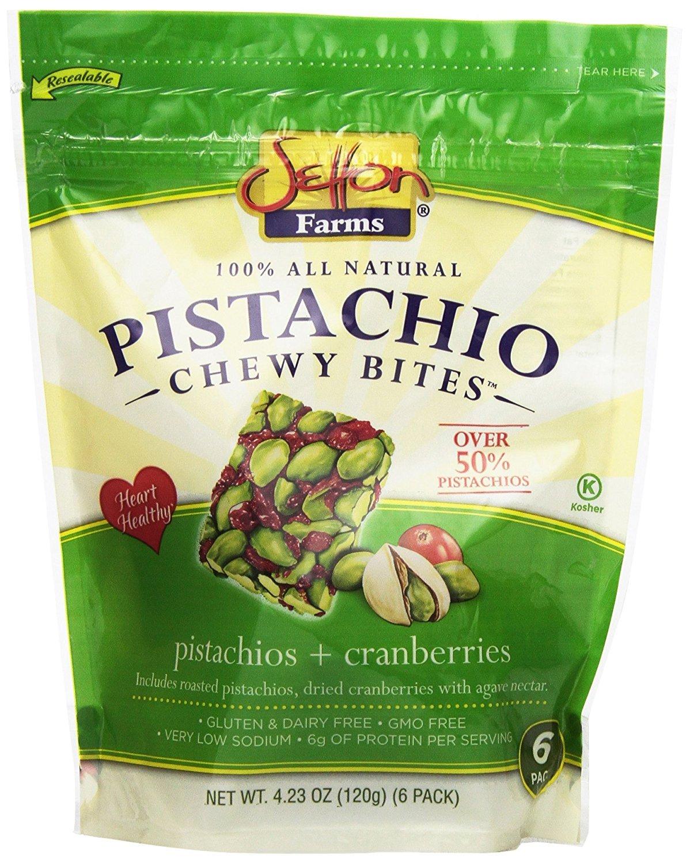 Setton Farms Pistachios Chewy Bites -100% ALL Natural, Premium 6 Pack, Case of 6