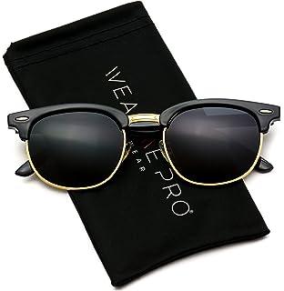 1b86d3dd9e2 WearMe Pro - Classic Half Frame Polarized Semi-Rimless Rimmed Sunglasses