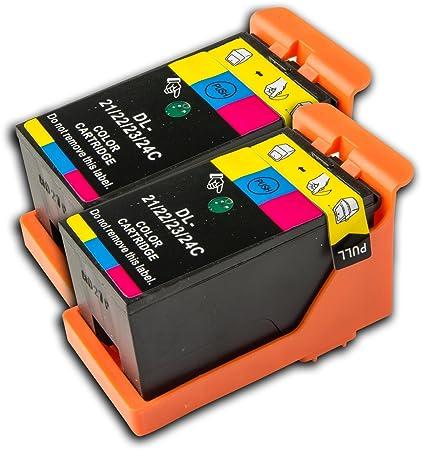 La tinta calamar 2 Color Dell 21 22 23 24 no OEM Compatible ...