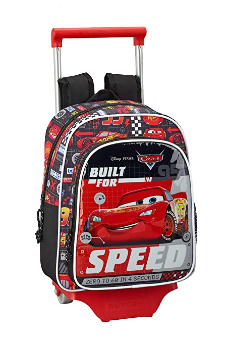 Cars Oficial Mochila Infantil Con Carro Safta 705