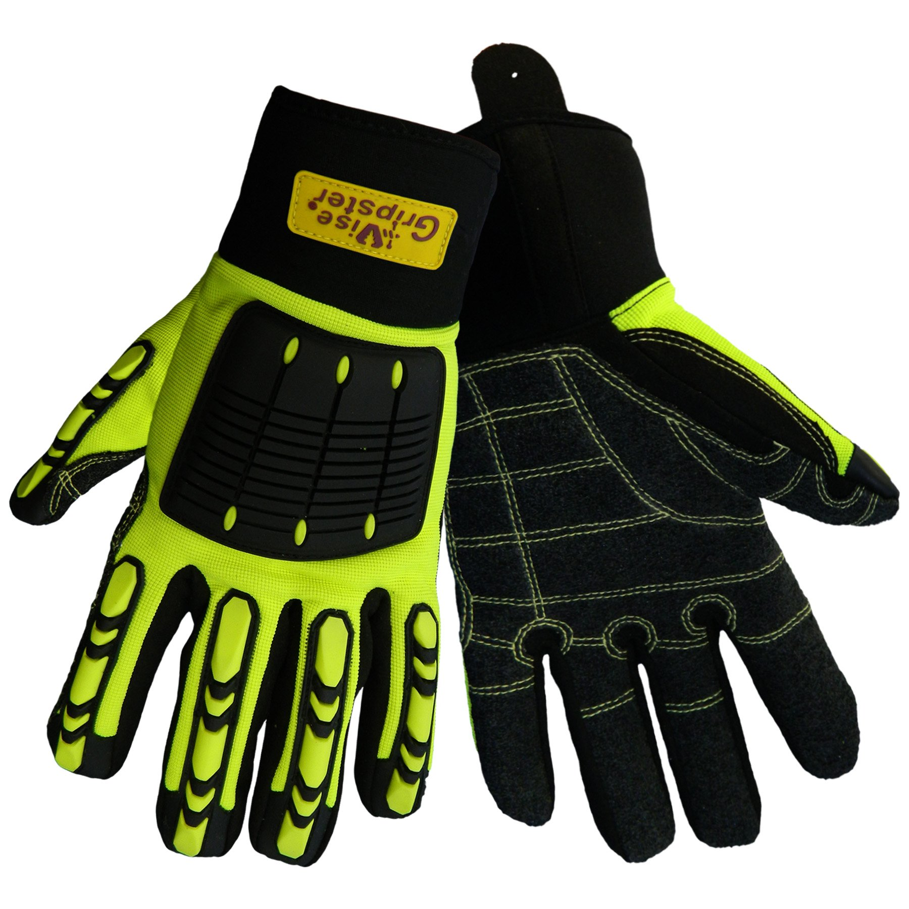 Global Glove SG9966 Vise Gripster Roughneck Glove with TPR Impact Protection, Work, Medium (Case of 48)