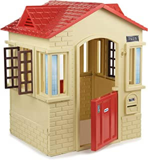 product image for Little Tikes Cape Cottage Playhouse with Working Doors, Windows, and Shutters - Tan