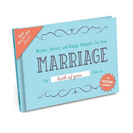 Knock Knock Wishes, Advices & Happy Thouhts for Your Marriage Fill in the  Love Wedding Shower Gift Book Fill-in-the-Blank Journal
