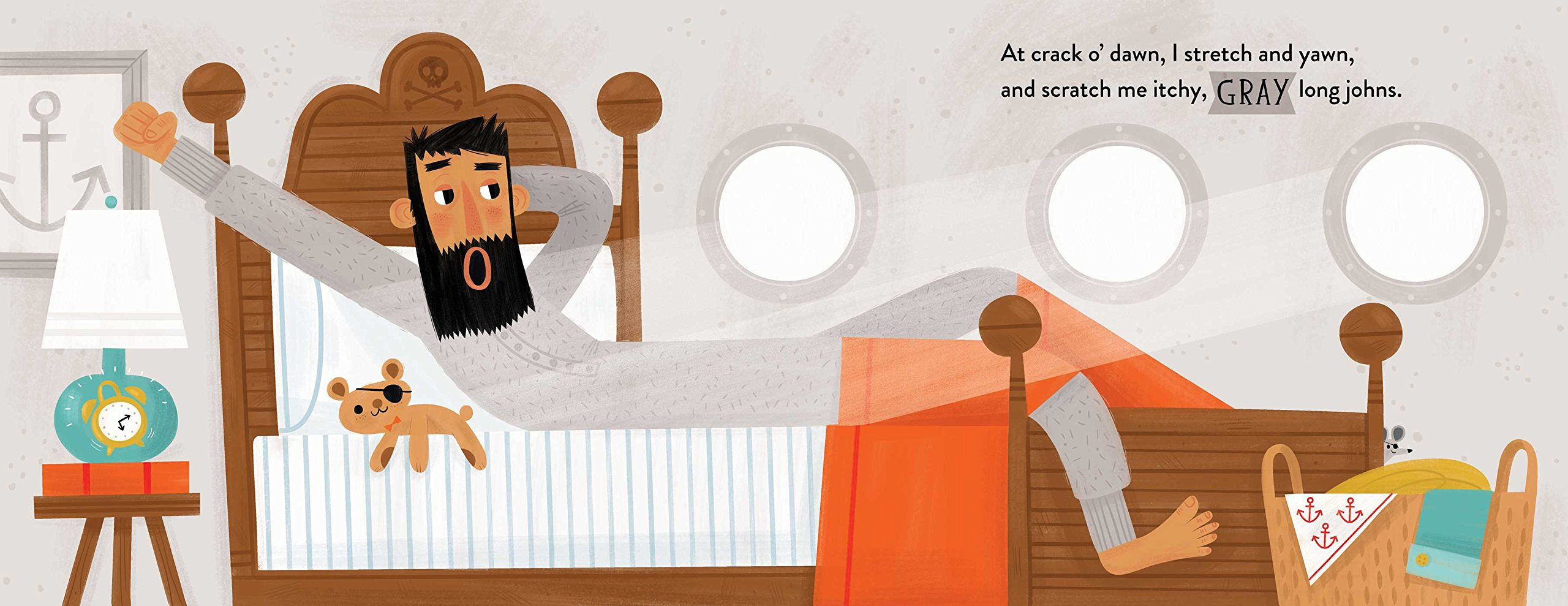 Pirate Jack gray long johns