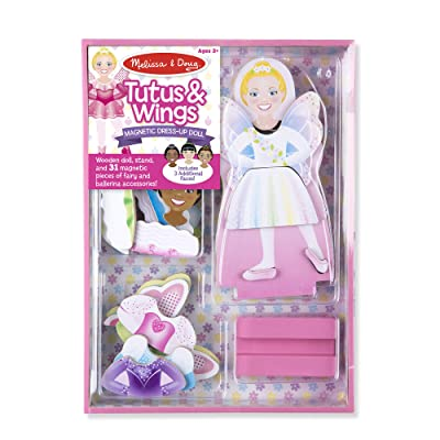 Melissa & Doug Magnetic Dress-Up - Tutus & Wings Magnetic Dress-Up Set: Toys & Games