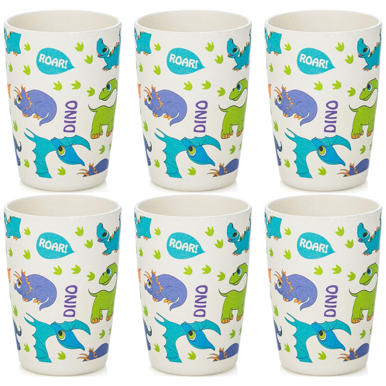 高級素材使用ブランド Tiny Dining 6 Children's Bamboo Fibre Juice Cup - B07BK89P3V Dinosaur Dinosaur - Pack of 6 B07BK89P3V, 土浦市:6540968f --- beyonddefeat.com