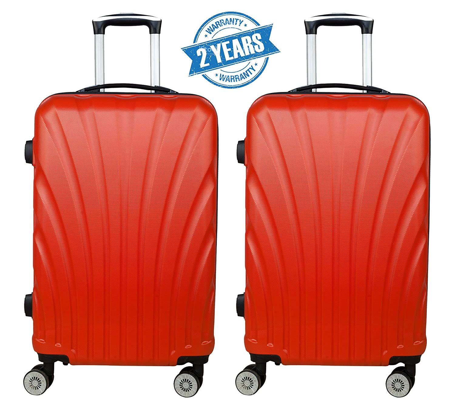 c4d5d7290 3G Combat Series 8016 ABS Set of 2 55cms/20inch Hard Sided Luggag Trolley Suitcase  Cabin Size Suitcase: Amazon.in: Bags, Wallets & Luggage
