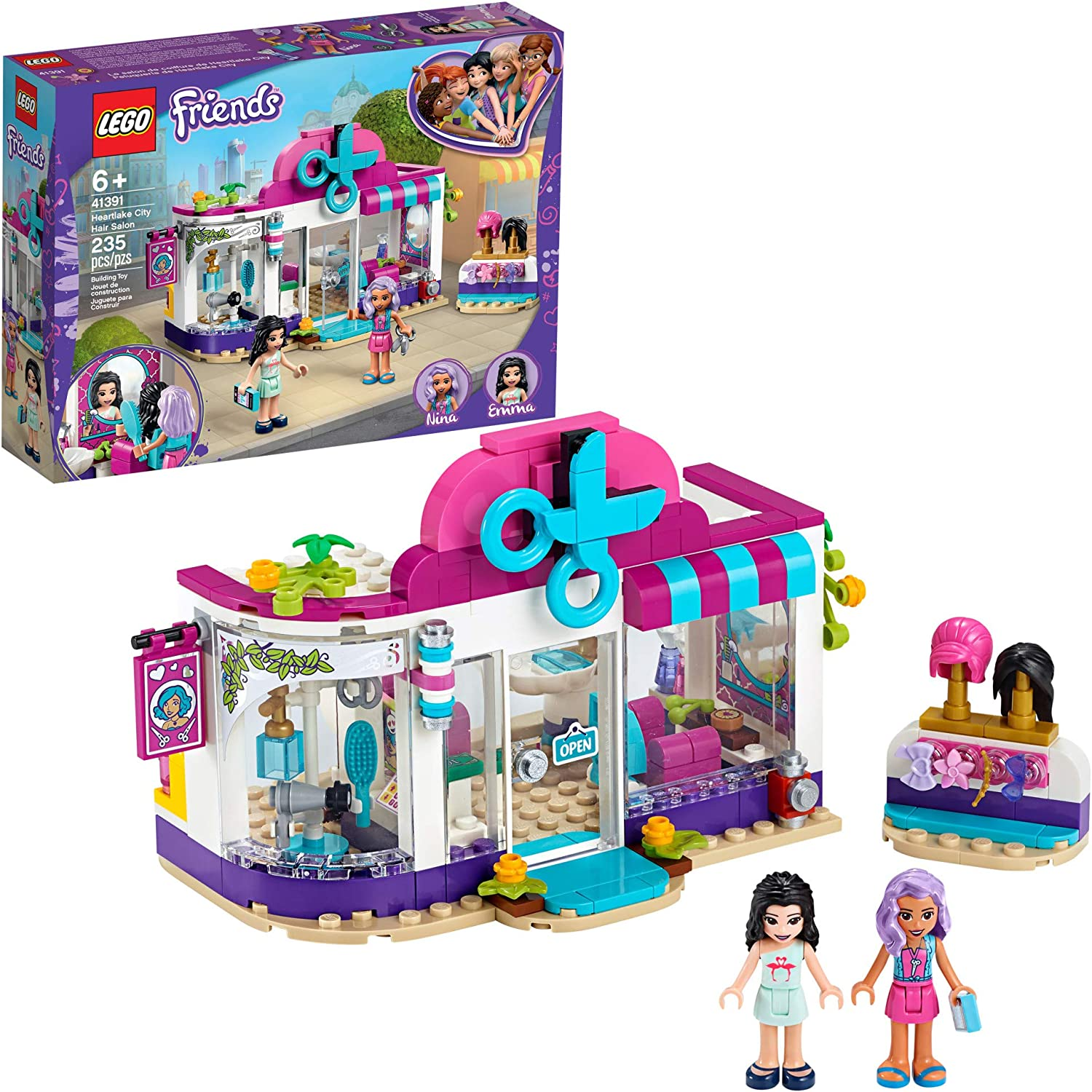 LEGO Friends Heartlake City Play Hair Salon Fun Toy 41391 Building Kit, Featuring Friends Character Emma, New 2020 (235 Pieces)