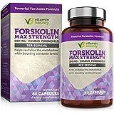 Forskolin - Non GMO, Gluten Free & Made in USA - Coleus Forskohlii Extract 60ct - Vitamin Bounty