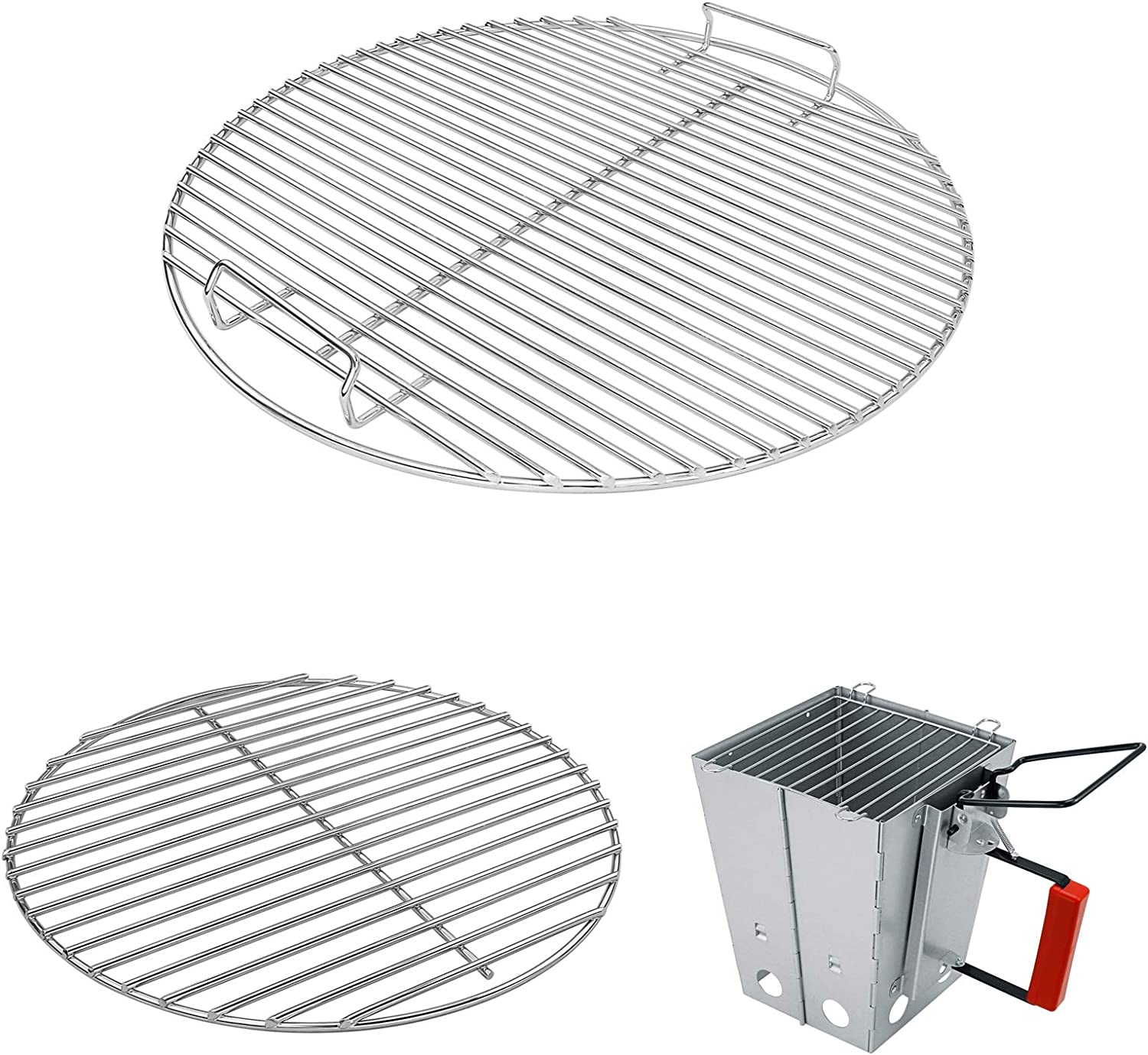 Hisencn Grill Grate, Charcoal Grid for Weber 18.5