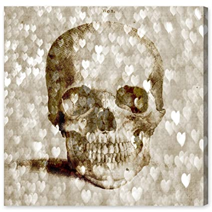 Loving Skull Contemporary Canvas Wall Art Print for Home Decor and Office. The Fashion