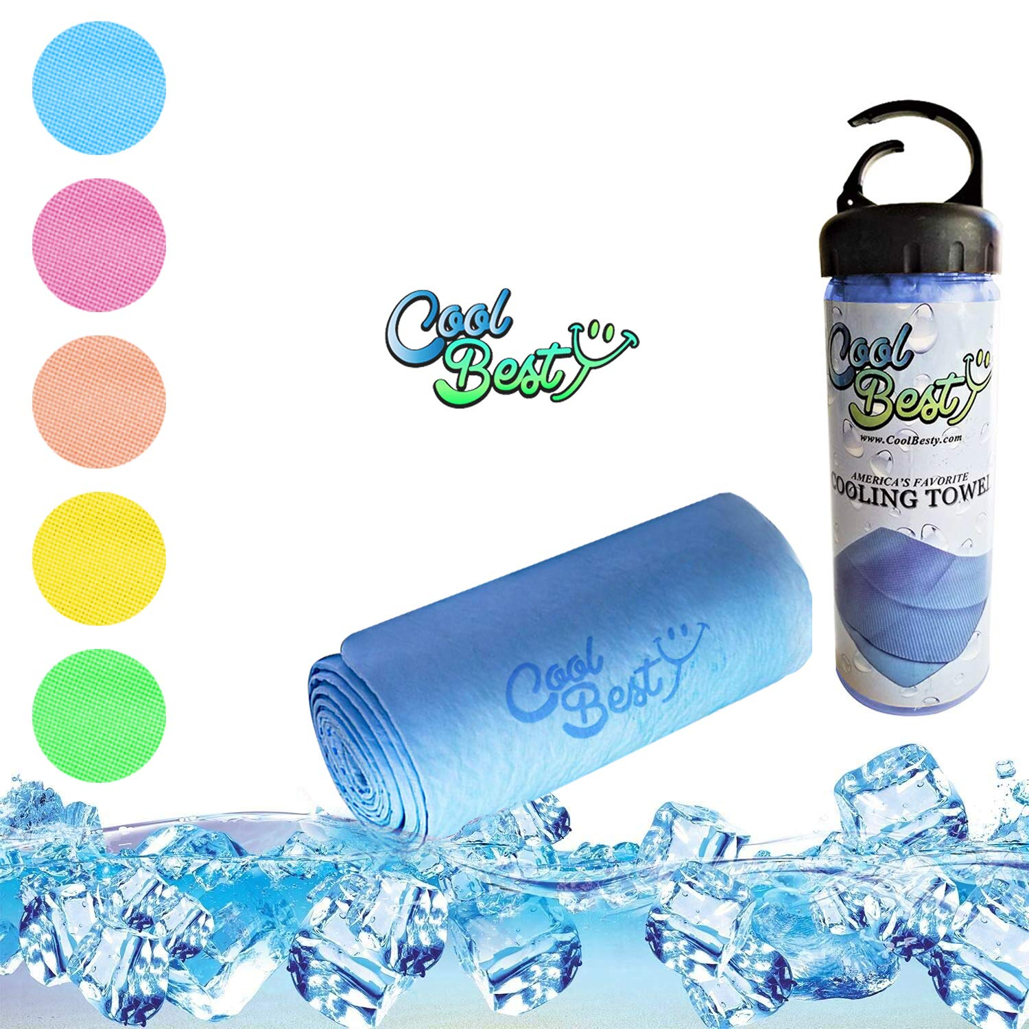 Cool Besty Sports Activities and Workout Cooling Towels Best Gift for Tennis Golf Running Biking&Any Sports-Athletes Cold Sweat Towel-Instant Snap Chilly Pad-Perfect for Fitness & Gym - Blue