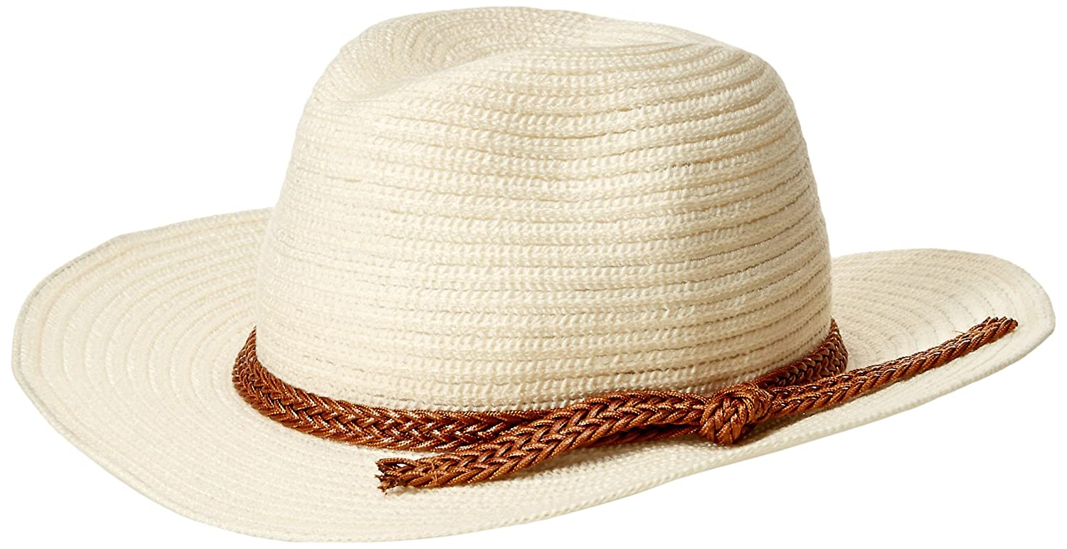 d0615e7e3721f Rampage Women s Textured Panama Hat with Braid Band