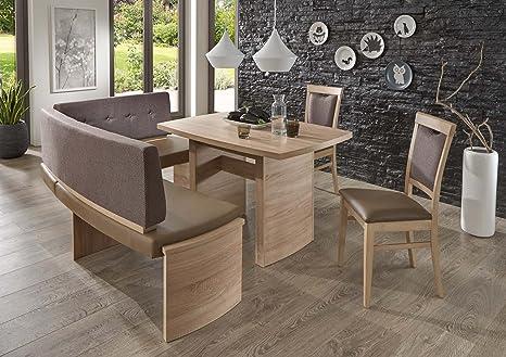 Fine Nina With Corner Bench Dining Set Amazon Co Uk Kitchen Home Unemploymentrelief Wooden Chair Designs For Living Room Unemploymentrelieforg