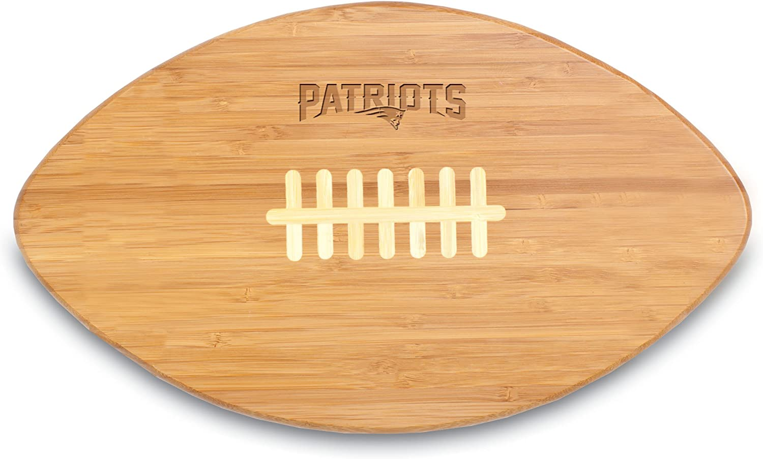 NFL New England Patriots Touchdown Pro! Bamboo Cutting Board, 16-Inch
