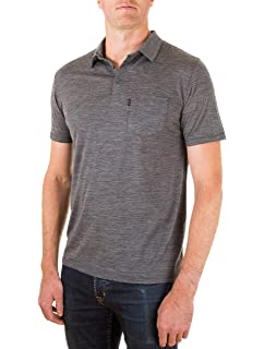 0da1f05a Woolly Clothing Men's Merino Wool Polo Shirt - Ultralight - Wicking  Breathable Anti-Odor
