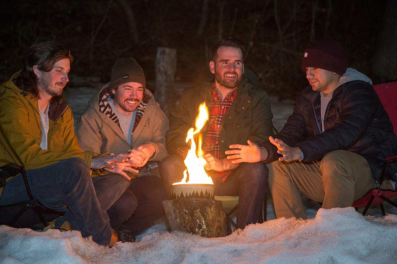 Portable Reusable Campfire Pot Tin With Wax Outdoor Lighting Campfire Heating US