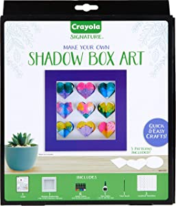 Crayola DIY Shadow Box, Personalized Picture Frame Kit, Gifts for Teen Girls & Boys, 13 Pcs