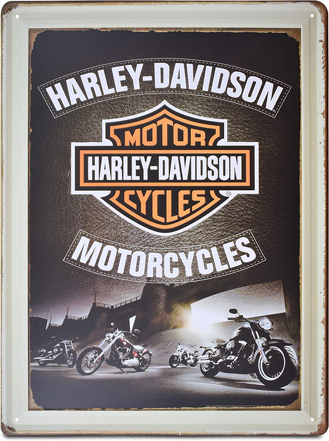 H&K Harley Davidson Heritage Springer Motorcycle Retro Metal Tin Sign Posters Wall Decor 12X8-Inch