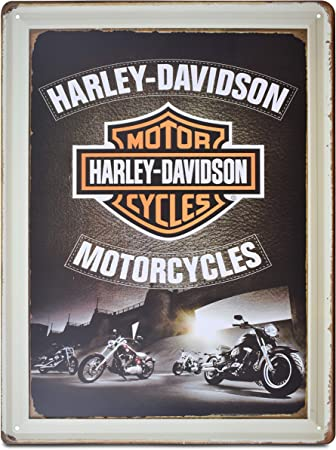 Amazon.com: K&H Harley Davidson - Cartel retro de metal ...