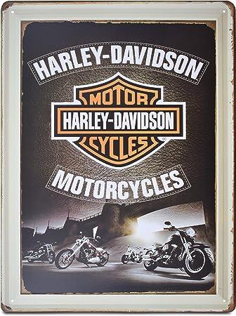 Amazon.com: K&H Harley Davidson - Cartel retro de metal ...