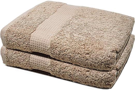 Towelogy® - Juego de toallas de baño (700 g/m², algodón de primera calidad, tamaño extra grande), algodón, moca, 2 Bath Towels: Amazon.es: Hogar