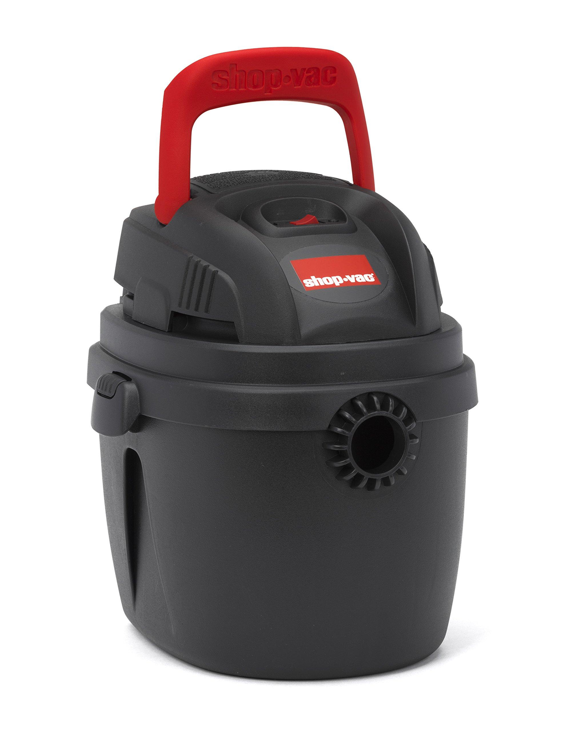 Shop-Vac 2030227 1.5 gallon 2.0 Peak hp Portable Wet Dry Vac, Red/Black