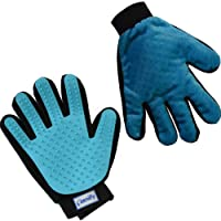 Zenify Pet Grooming Glove - For Dog, Puppy, Cat, Kitten, Rabbit, Horse - Dual Sided 2-in-1 Upgrade Version Machine Washable Enhanced Efficient Silicon Massage One-Size-Fits-All Gift Hair Deshedding Remover Mitt