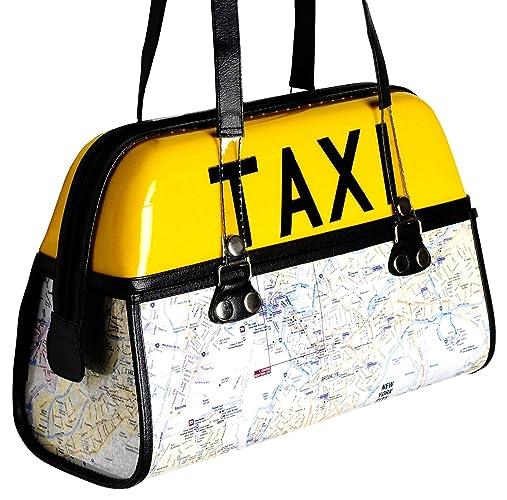 45b7299884 Amazon.com: TAXI handbag with New York map - FREE SHIPPING upcycled ...