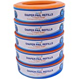 ChoiceRefill Diaper Pail Refills - Compatible with Diaper Genie Pails - 5-Pack, 1,350 Count