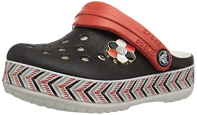 845caf6497a60 Crocs Kids Unisex Drew X Crocband Chevron Clog (Toddler/Little Kid) Black/