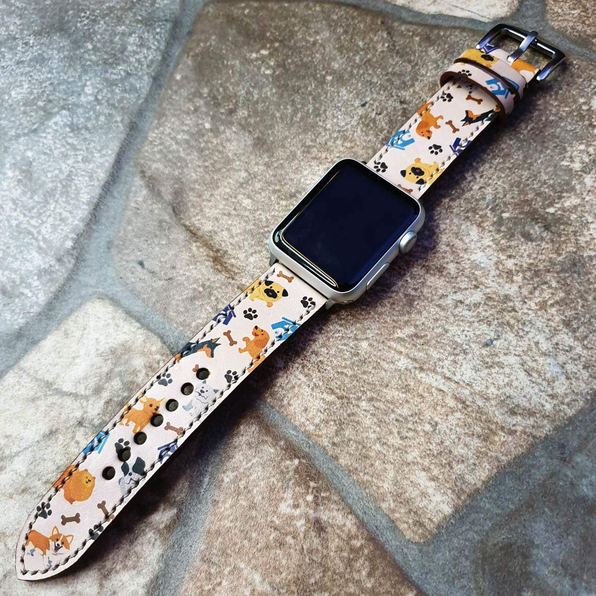 Animal Band Apple Watch Band 38mm 40mm 42mm 44mm,Series 5 Series 4 Series 3 Series 2 Series 1,Hand-Stitched Handmade Apple Watch Leather