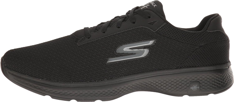 Skechers Herren Go Walk 4 Sneakers, Schwarz (BBK), 44.5 EU