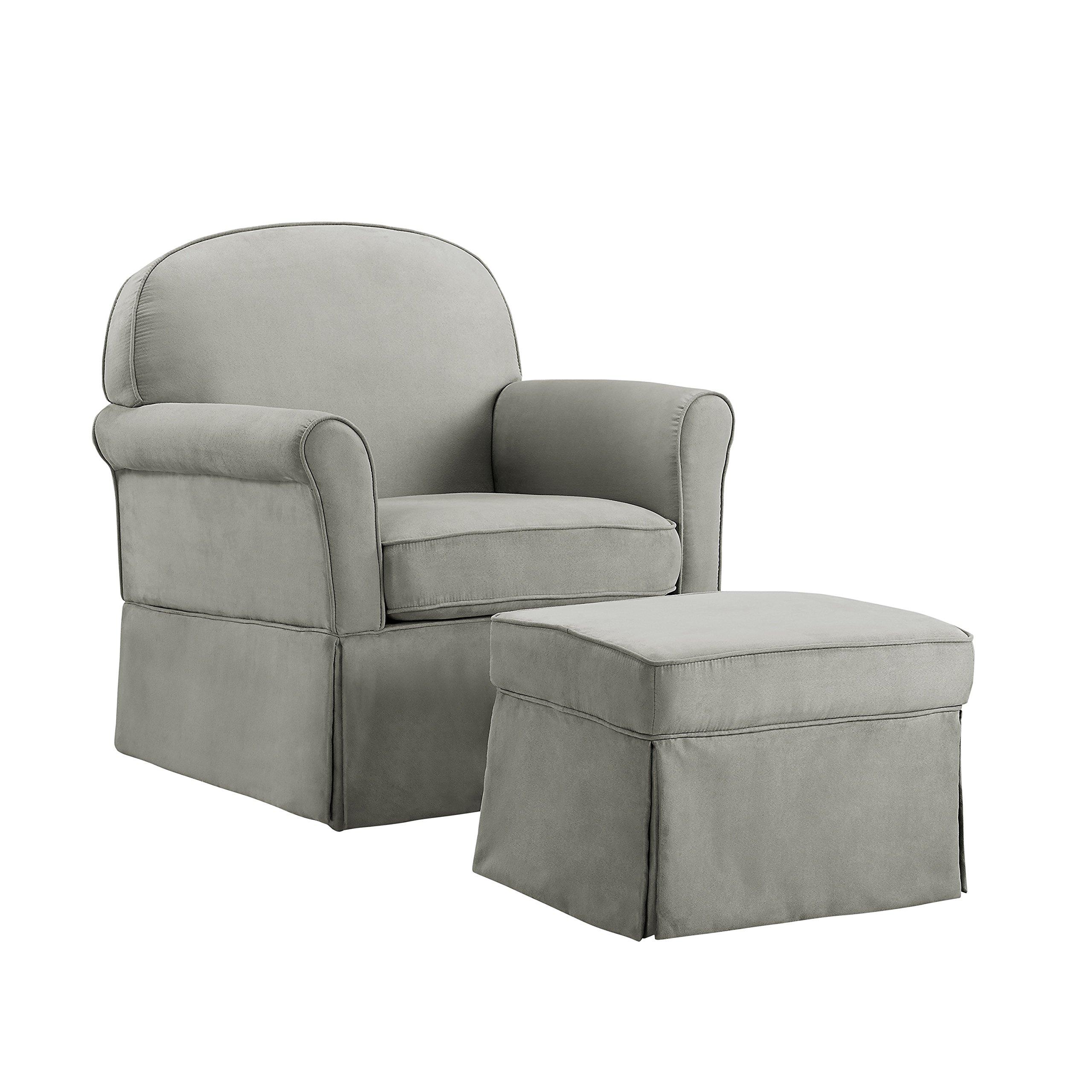 Avenue Greene Baby Relax Swivel Glider and Ottoman Set Grey