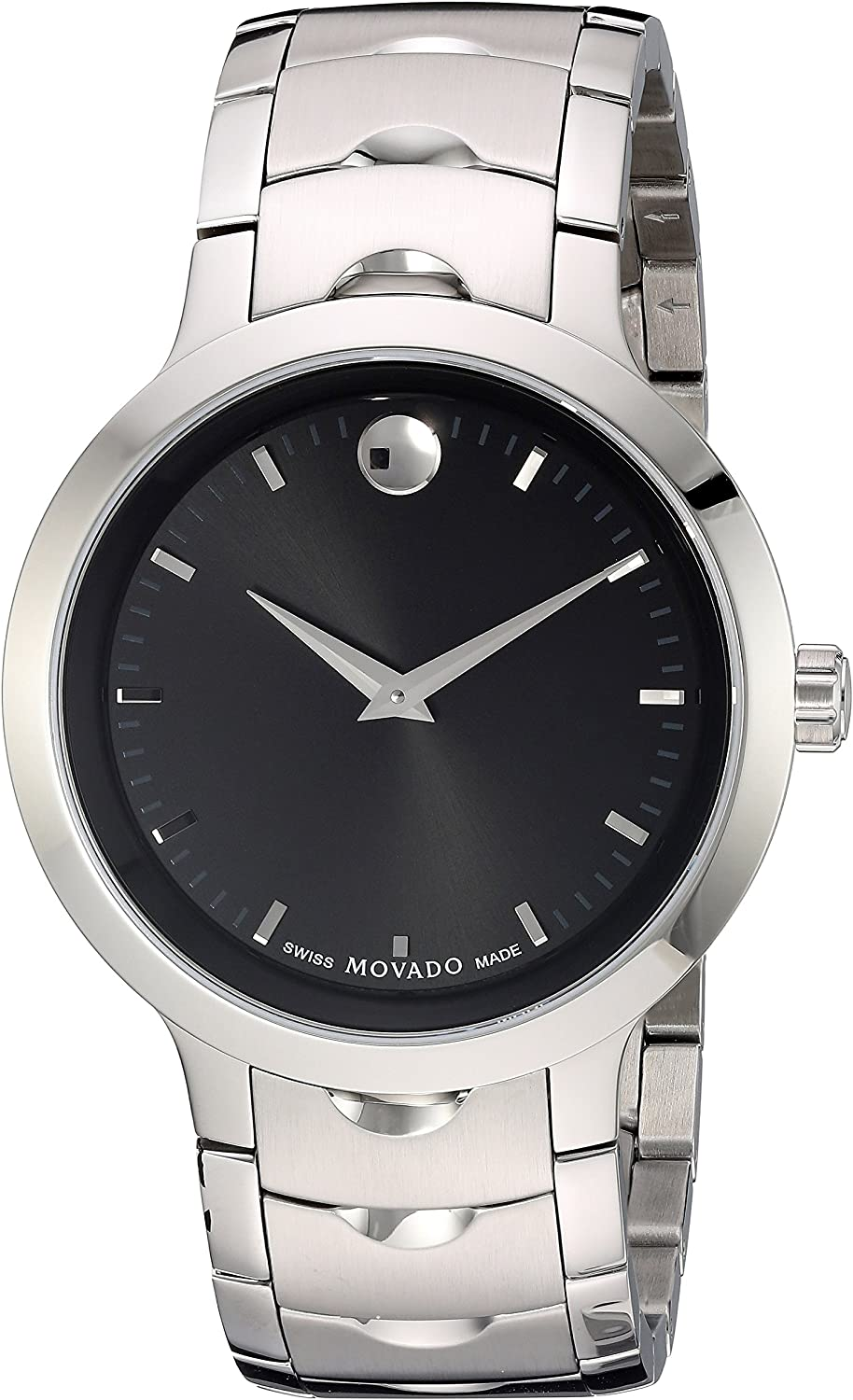 Movado Men s Swiss Quartz Stainless Steel Watch, Color Silver-Toned Model 0607041