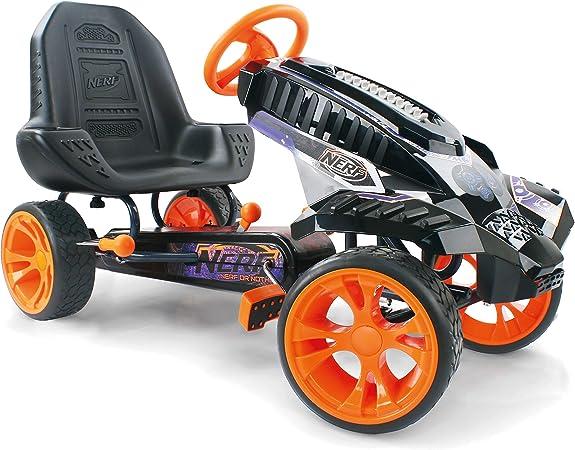 Hauck Nerf Battle Racer Gokart Pedal Vehicle With Nerf Blaster Holding Consoles Eva Tyres Adjustable Seat Position Handbrake For Both Rear Wheels Spielzeug