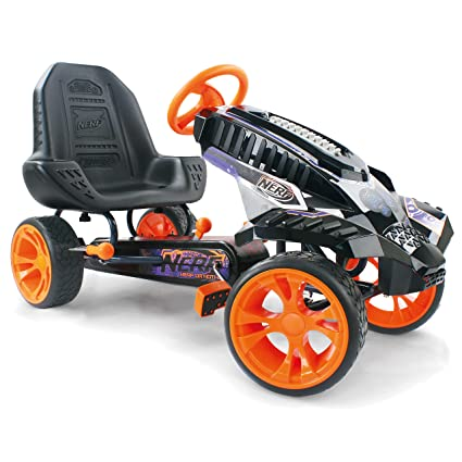 HAUCK Nerf Battle Racer Kart – Pedal Vehículo con Nerf Blaster sujeción Consola, neumáticos de