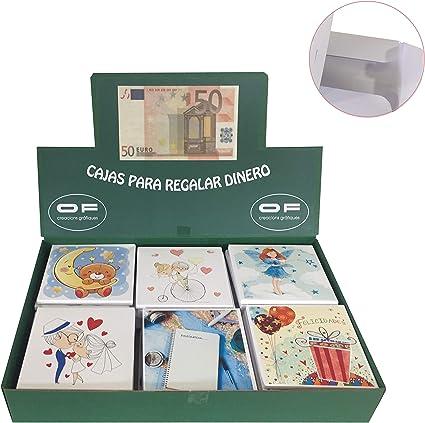 Expositor 42 Cajas regalar dinero surtido 10x10cm: Amazon.es ...